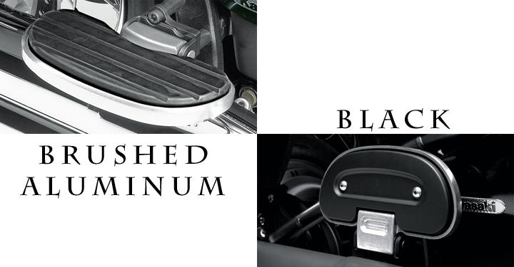 Passenger Floorboards, Brushed Aluminum and Black detail photo 1