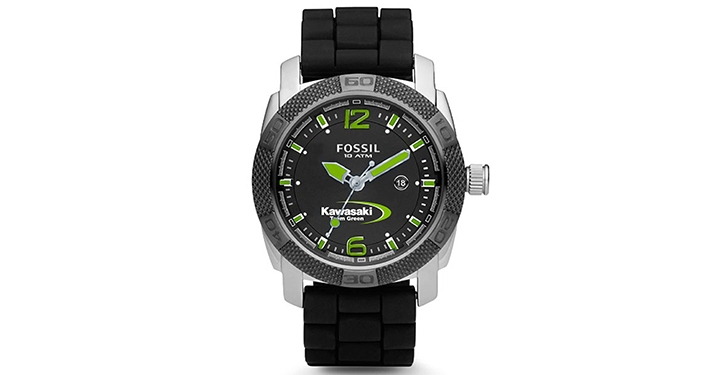 Kawasaki Team Green Fossil Watch detail photo 1