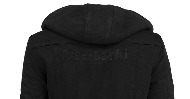 Kawasaki Hooded Denim Jacket detail photo 2