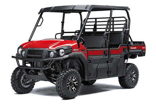 Three quarter image of Firecracker Red 2019 MULE FXT EPS LE