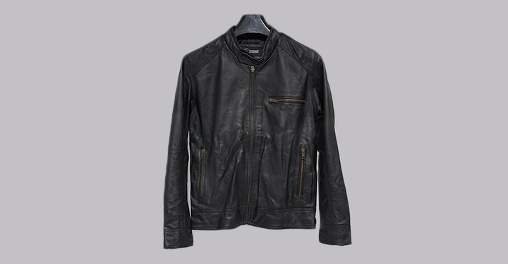LEATHER JACKET NINJA BLACK S-L detail photo 1